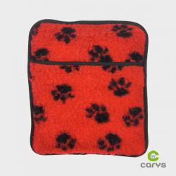 Bouillotte rouge à motif pour animaux -  4 Pattes